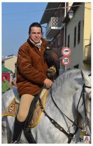 falconeria a cavallo